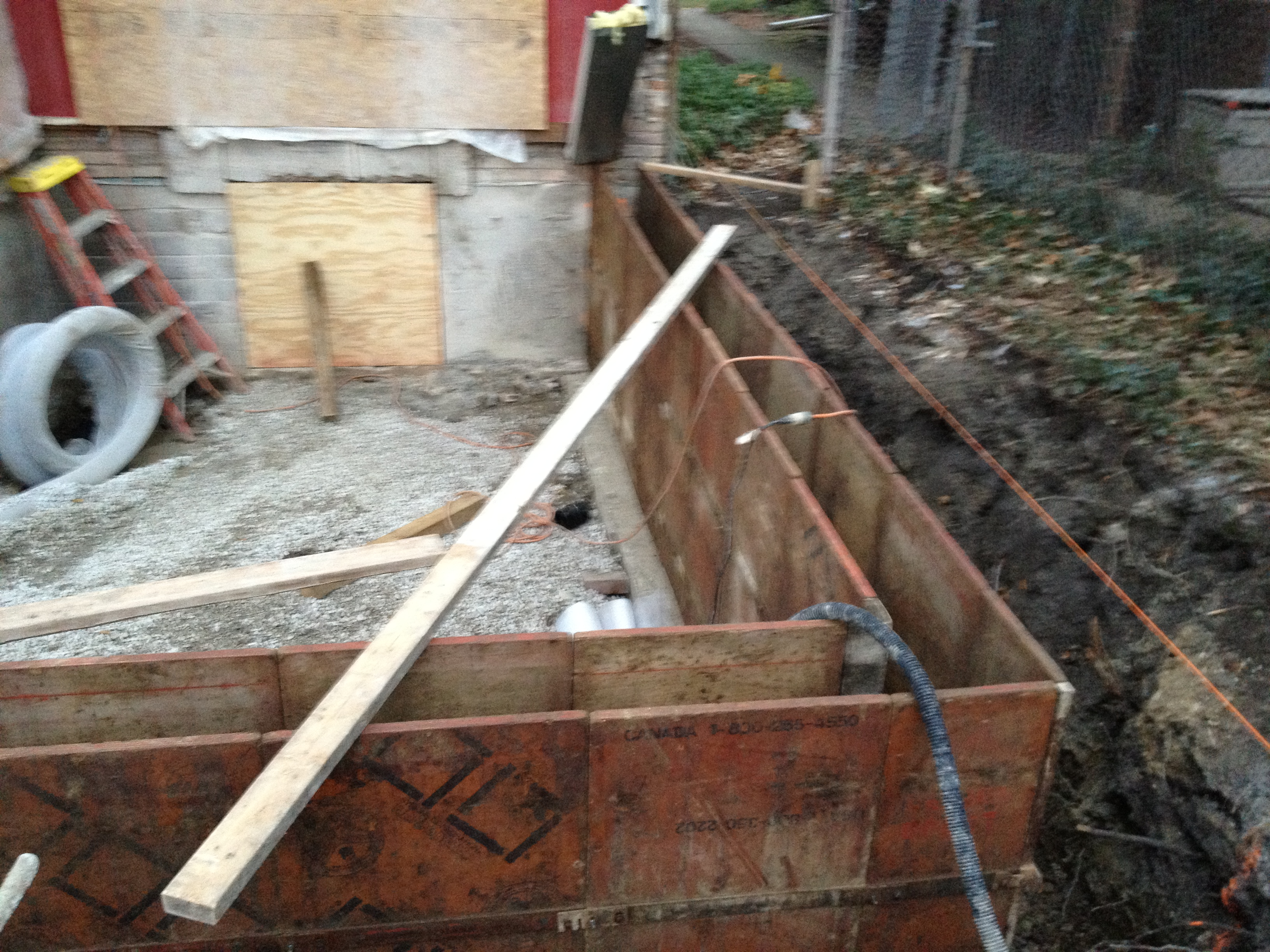 Home renovation foundation Concrete crawl space floor