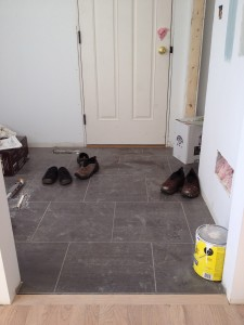 Tile in the mudroom