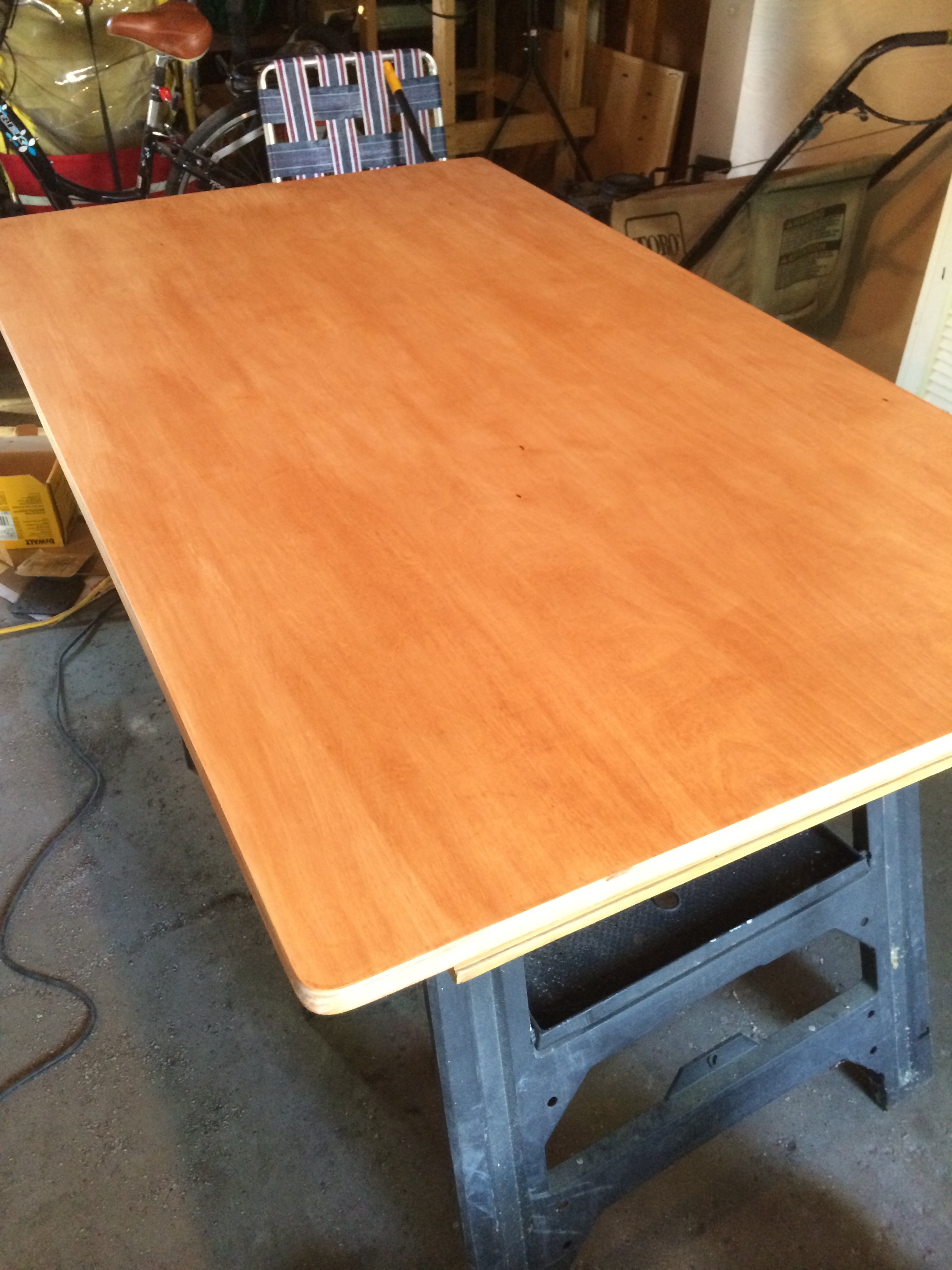 After one coat of stain